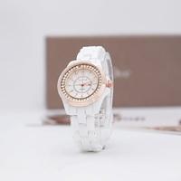 Luxury watches women's quartz watch ceramic watchband all-match