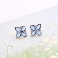 Fall in love small fresh sweet romantic flower stud earring female fashion accessories earrings