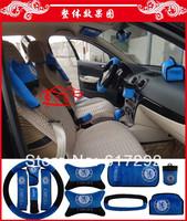 RADCH Freeshipping cover set for car CLUB CHELSEA Wheel belts cover 10pcs/set blue auto inner cover set original logo