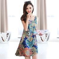 Free shipping 2014 new sundress Bohemian dress women's spring models bottoming Dress
