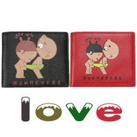 Vicat 2013 cowhide wallet female first layer of cowhide lovers design wallet genuine leather wallet short design