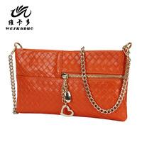 Shoulder bag messenger bag small bag genuine leather women's handbag bag day clutch female clutch cowhide clutch bag cosmetic