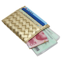 Vicat small genuine leather card case sheepskin knitted card holder driving license bag card stock