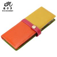 Vicat women's long design bank card bag women's multi card holder large capacity cowhide card holder
