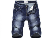 2014  New Arrival Fashion classic Men's Short Jeans 100% Cotton Brand Water Wash Slim men shorts casual jeans 3502