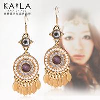 Lo yin Bohemia earrings female fashion no pierced earrings earring fairy vintage tassel earring