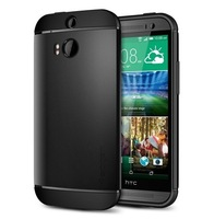 10PCS New 2014 Slim Armor Case for HTC One M8 SPIGEN SGP Ultra Thin Luxury Back Cover TPU+PC No Retail Package