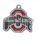 Free shipping fashion 50pcs a lot single-sided enamel NCAA Ohio State Buckeyes sports charm pendant(H103926)
