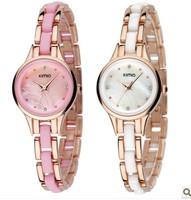 Free shipping,, Fashion women's ceramic style watch bracelet watch white watch fashion lady