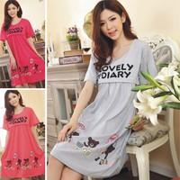 maternity dress Summer clothes short sleeve pajamas lactation feeding breastfeeding clothes Nursing Wear for pregnant women