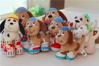 Hooded shoes dog doll plush toy decoration