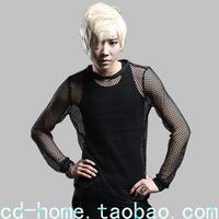 free shipping  star fishing net shirt gd mens ds costume