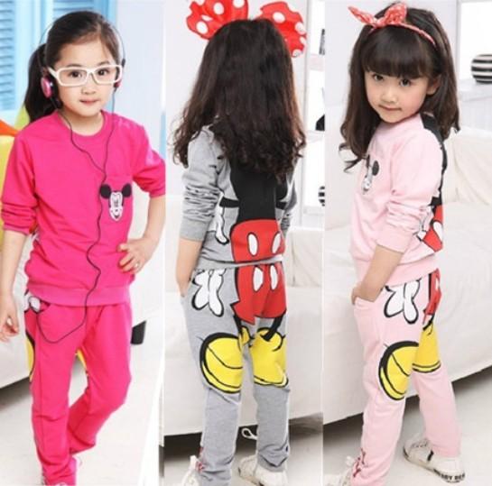 Free shipping Kids/girls clothing sets children's suit shirt+pants 2pcs autumn models girls sweater suit new pajamas(China (Mainland))