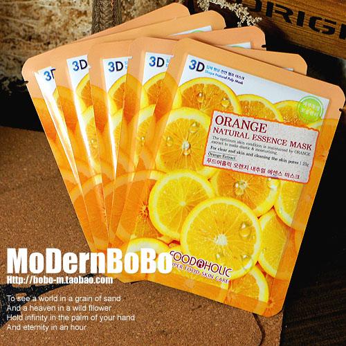 Free shipping Food a holic 10 anti inflammatory acne moisturizing orange 3d mask(China (Mainland))