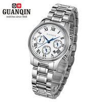 100% Genuine quartz watch waterproof business casual female large dial Roman multi function wrist watches chronograph leisure
