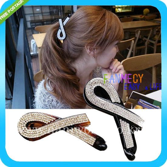 accessoires pour cheveux et bijoux de mode des femmes strass queue de cheval cheveux clip clip clip de lin bananes cheveux épingles à cheveux bandeau pour fille