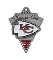 Free shipping fashion 50pcs a lot single-sided enamel NFL Kansas City Chiefs sports charm pendant(H103969)