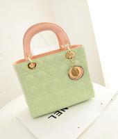 2014 totes pu bolsas bolsa handbags diamond lattice handbag bag hit the color messenger handbags wholesale small fragrant wind