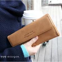 New 2015 fashion cartera hombre womens brand long solid slim wallets and purses with coin pocket carteiras femininas em couro