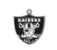 Free shipping 50pcs a lot single-sided enamel NFL Oakland Raiders sports charm pendant(H103980)