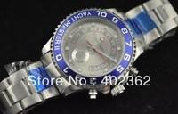 Luxury Men's Silver Dial Blue Bezel Dive Watch YachtMaster II Mechanical Movement Wristwatch Mens Sport Watches