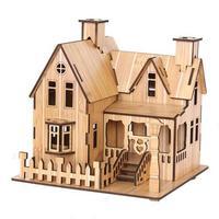 2014new wooden 3d jigsaw puzzles building model houses villas