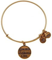 Alex and Ani  Because I am a Gril Silver Plated Alloy Charm Bracelets and Bangles for girls Free Shipping