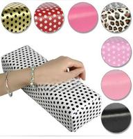 Nail art tools  rectangle leather nail art pad Salon Nail Art Hand Holder Column Cushion Pillow Arm Rest Manicure Tool