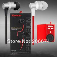 free shipping Kanen 20-20 KHZ In-Ear Line Control Earphone #ip-808(red.Black.blue) In-ear headphones