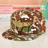 2014 Cotton Hat male women's summer Camouflage olive eagle boy flat along the cap baseball cap hat hip-hop cap  Free shipping
