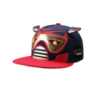 brand 2014 cotton Smb small wings polka dot pink gold robot powder p sweet flat brim baseball cap  Free shipping