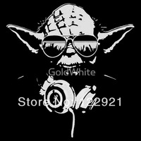 High Quality  Star Wars YODA DJ hot selling 100% Cotton Casual Fashion Loose  Printed T-shirt Tee Dress Camisetas