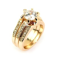 the ring o  Bijoux Wedding Rings 18K Gold Plated Polish Rings For Women Fashion Brand Jewelry Antique Golden Rings Accessories