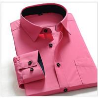 free Shipping Men's business shirts,Long-sleeved Slim Men's wear,Casual shirts for gentleman 32