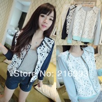 Thin female spring and autumn casual cardigan Chiffon crochet all-match short jacket
