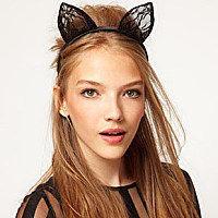 1Pcs Rabbit ear hair net yarn lace headdress