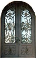 Ornamental entry door high quality wrought iron doors ETN-1021 ,glass doors with kick plate
