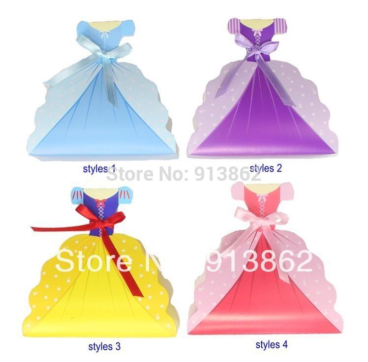 Free Wedding Dress Favor Box Template