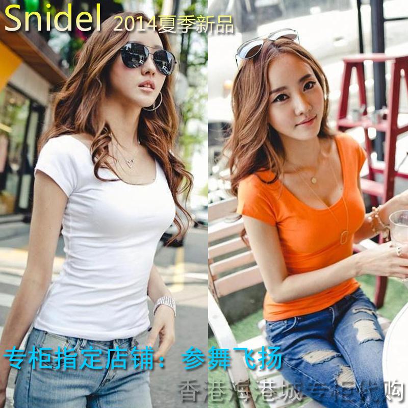 Женская футболка Snidel u T414 юбка liz lisa snidel lolita