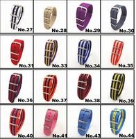 Hot ! Retail - 1pcs High quality 20MM Nylon Watch band NATO waterproof watch strap fashion wach band - 81 colors