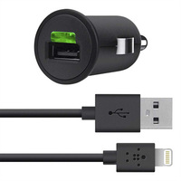NEW 2014 Belkin Made for iphone ipod ipad  USB Car Charger + 4' Lightning ChargeSync Adapter Cable 10W 2.1A car power inverter
