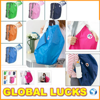 3 way easy folding portable carry bag waterproof folding travel storage shoulder bag backpack cross bag pounch
