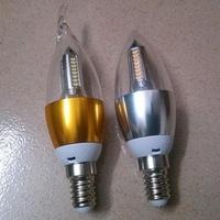 Best Sale 3W E14 85-265V LED Candle Light Warm White 12pcs/lot