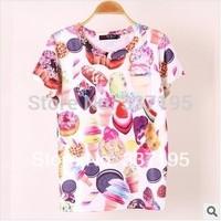 new 2014 women t-shirt ICE CREAM women clothing punk harajuku tshirt tops for women desigual brand women shirt
