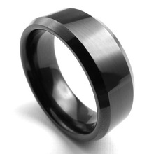 Personalized accessories tidal current male men's Men the boys tungsten steel ring black finger ring