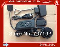 2 pcs/lot BT Intercom Motorcycle Helmet Interphone Bluetooth Headset for 6 riders 1200M  Free shipping HK Post