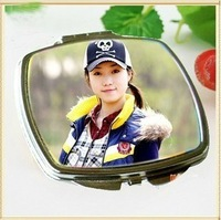 free shipping heat sublimation blank mirror with metal sheet fashion women DIY make up mirror