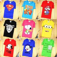 Hot-selling 2015 summer clothing children T-shirt 100% cotton short-sleeve T-shirt baby boys and girls cartoon summer tops