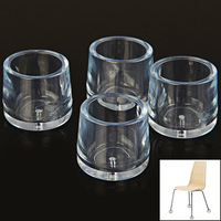4PCS Transparent Chair Leg Floor Protector Foot Cover Anti-slip and Anti-noise Cover