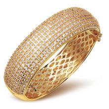 Wedding Jewelry Luxury elegant bracelet AAA Cubic Zirconia bangles Prong Setting Propose Marriage Present SA00563